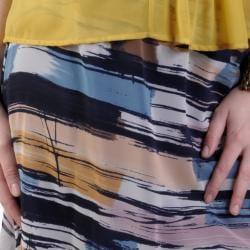 Journee Collection Juniors Multicolor Flowy Chiffon Long Tail Hem Skirt - Thumbnail 2