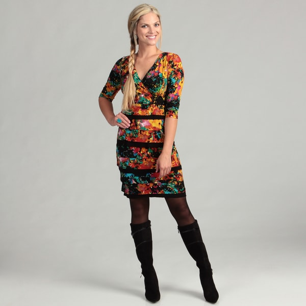 London Times Women's Floral 3/4-sleeve Dress FINAL SALE