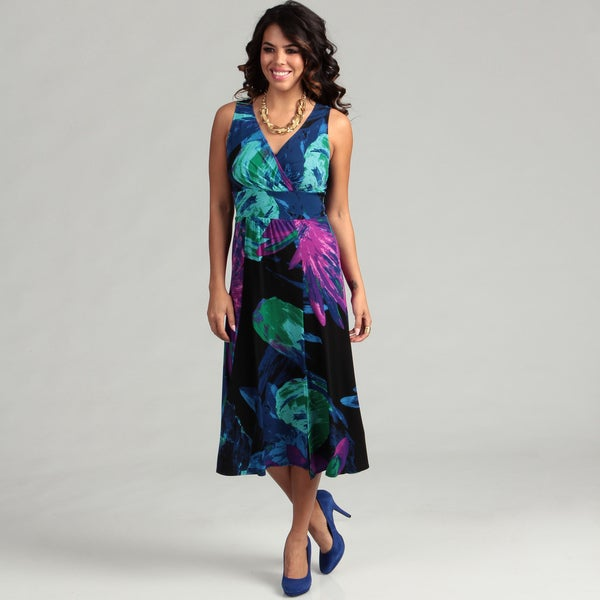 London Times Women's Sleeveless Dress