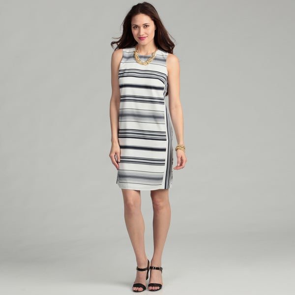 Vince Camuto Women's Caribbean Stripe Sleeveless Dress