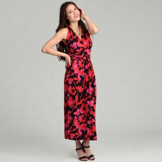 Vince Camuto Women's Island Floral Cutout Halter Maxi Dress