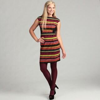 London Times Cap Sleeve Sheath Dress