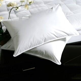 white plushtop goose feather pillows set of 2