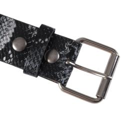 Journee Collection Women's Python Print Casual Belt - Thumbnail 1