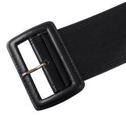 Journee Collection Women's Topstitched Wide Leather Belt