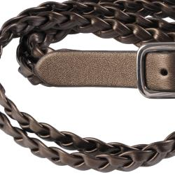 Journee Collection Women's Double Braid Leather Belt