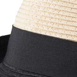 Hailey Jeans Co. Women's Ribbon Accent Paper Braid Fedora - Thumbnail 2