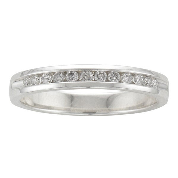 Unending Love Sterling Silver 1/5ct TDW Diamond Wedding Band