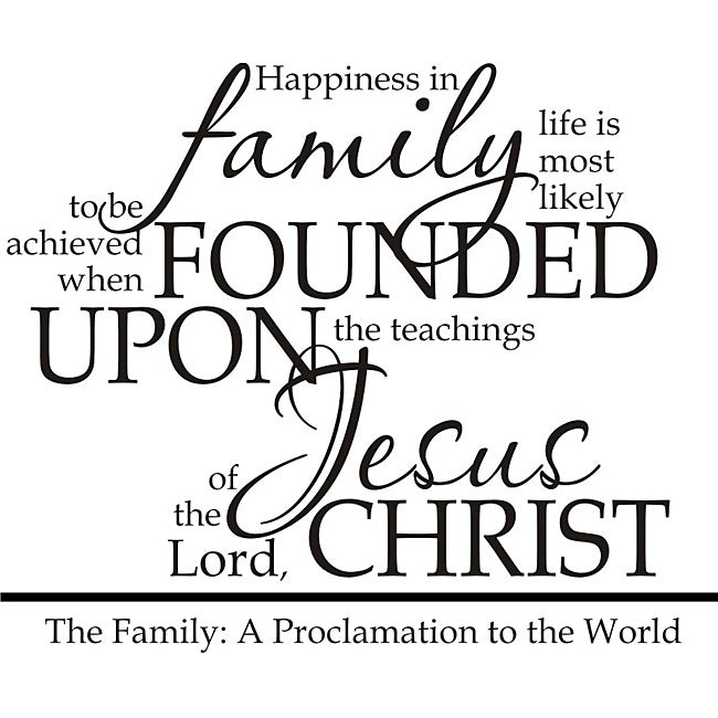 Design on Style A Family Proclamation Religious Vinyl Wal...