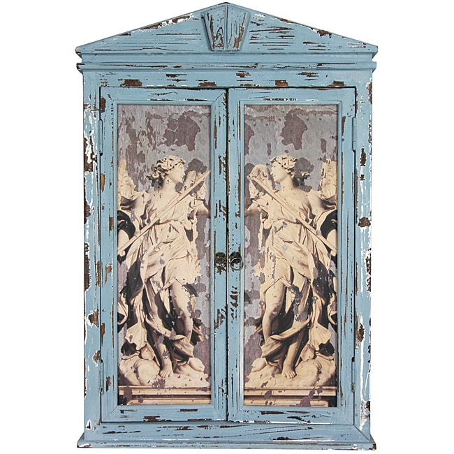 Distressed Framed Angels Mirror (China)