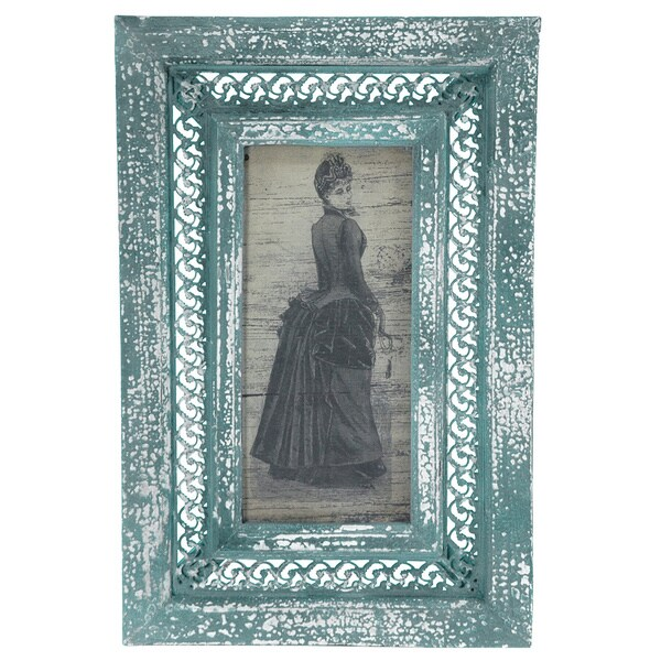 Rustic Bustled Lady Framed Picture (China)