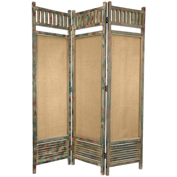 Distressed Wooden Railings 6-foot Room Divider (China)