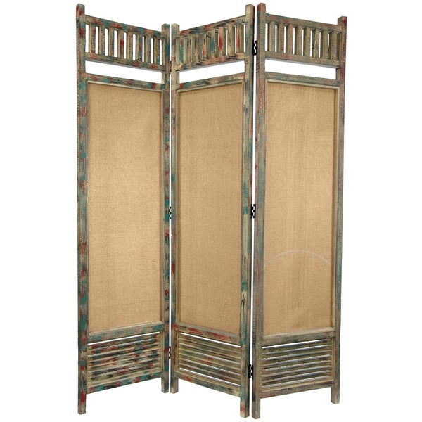 Distressed wooden railings 6 foot room divider china for Buro 600 6ft ups
