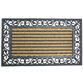 "Rubber-Cal 'Casablanca' Coconut Rubber Entrance Mat (18"" x 30"")"