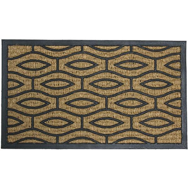 """Rubber-Cal 'Green Terrace' Rubber Coir Door Mat (18"""" x 30"""")"""