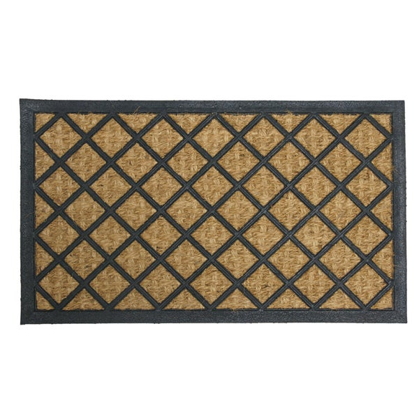 Rubber-Cal 'My English Garden' Rubber Coir Decorative Mat