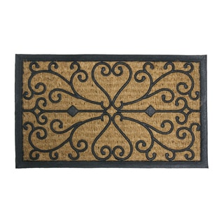 "Rubber-Cal 'Harmony' Coir and Rubber Doormat (18"" x 30"")"