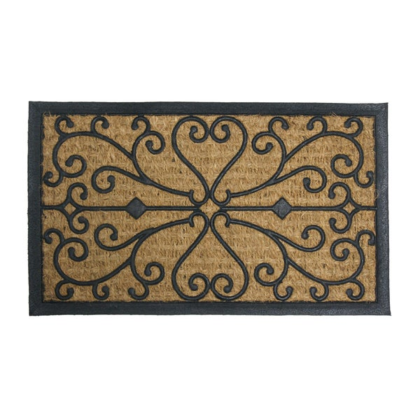 """Rubber-Cal 'Harmony' Coir and Rubber Doormat (18"""" x 30"""")"""