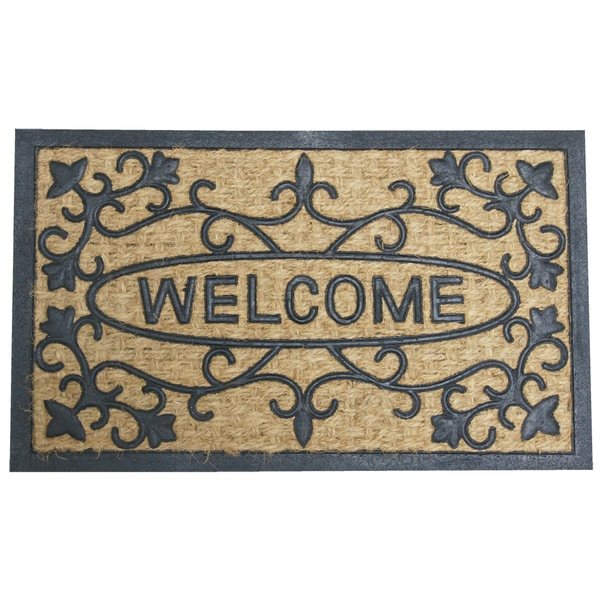 Rubber-Cal 'Welcome to Our House' Coir Rubber Welcome Mat
