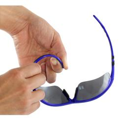 Men's 4932RV-BKSVRSM Silver/ Black Wrap Sunglasses - Thumbnail 2