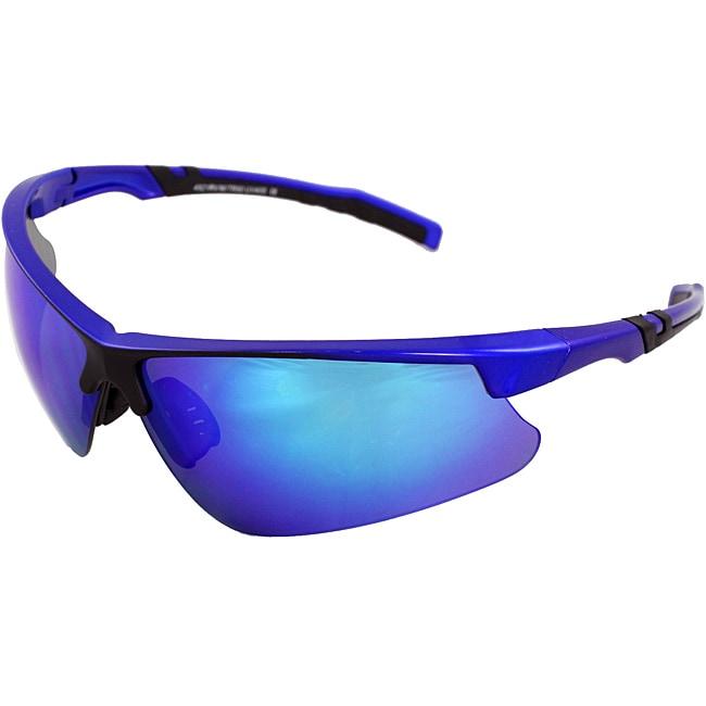 Men's 4921RV-BUBU Blue/ Black Wrap Sunglasses