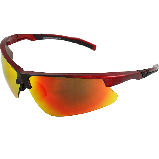 Men's 4921RV-RDR Red/ Black Wrap Sunglasses