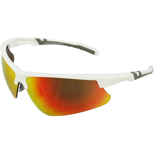 Men's 4921RV-WHTR White/ Grey Wrap Sunglasses