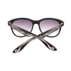 Unisex Brown/ Ivory Fashion Sunglasses - Thumbnail 2
