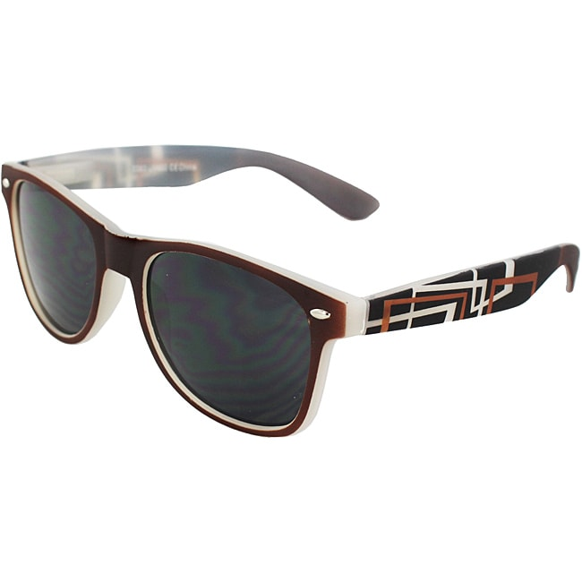 Urban Men's Brown Rubber Soft Touch Sunglasses