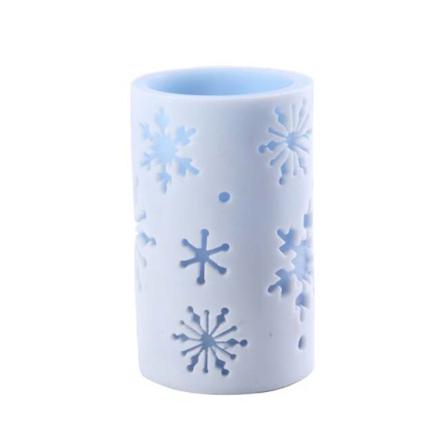 Blue snowflake 4x6 inch candle luminary free shipping on orders over