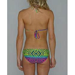 Island World Juniors Bright Tribal Halter/ Hipster Bikini - Thumbnail 1