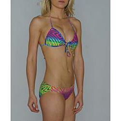 Island World Juniors Bright Tribal Halter/ Hipster Bikini - Thumbnail 2