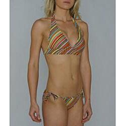Island World Junior's Euro Stripe Two-Piece Bikini