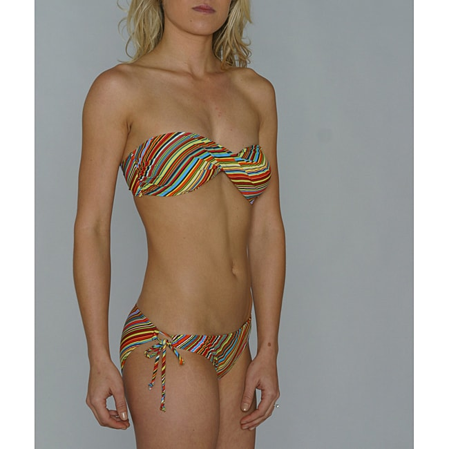 Island World Junior's Euro Stripe Bikini