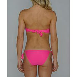 Island World Junior's Pink Twisted Halter Bikini - Thumbnail 1