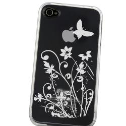INSTEN Clear Flower/ Butterfly TPU Rubber Phone Case Cover for Apple iPhone 4/ 4S - Thumbnail 2