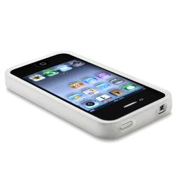 INSTEN Clear White TPU Bumper Phone Case Cover for Apple iPhone 4/ 4S - Thumbnail 2