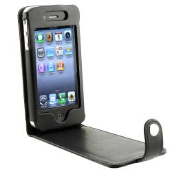 INSTEN Black Leather Phone Case Cover for Apple iPhone 4/ 4S - Thumbnail 2
