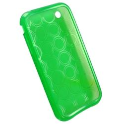 BasAcc Clear Green Circle TPU Rubber Flexible Case for Apple iPhone 3G/ 3GS