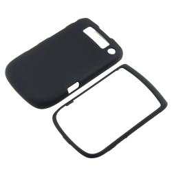 INSTEN Black Snap-On TPU-Rubber-Coated Phone Case Cover for BlackBerry Torch 9800 - Thumbnail 1