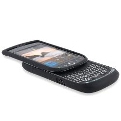 INSTEN Black Snap-On TPU-Rubber-Coated Phone Case Cover for BlackBerry Torch 9800 - Thumbnail 2