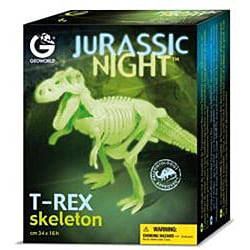 Jurassic Night Glowing Tyrannosaurus Rex Skeleton - Thumbnail 1