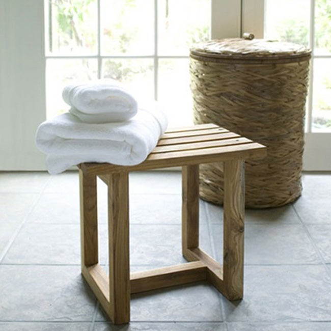 Eco-friendly Teak Bath Stool