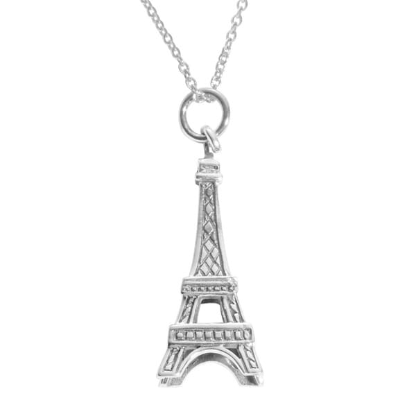 Shop journee sterling silver eiffel tower necklace free shipping journee sterling silver eiffel tower necklace mozeypictures Image collections