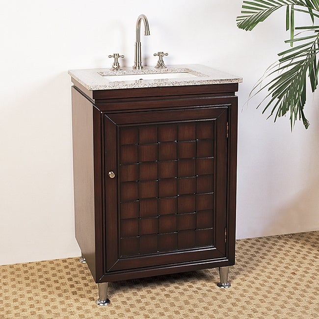 Granite Top 24 Inch Single Sink Bathroom Vanity