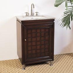 Granite Top 24-inch Single Sink Bathroom Vanity