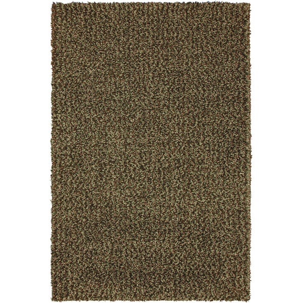 Kodiak Deep Green Shag Rug (5' x 7'6)