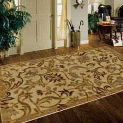 New Wave Lancaster Beige Rug (8' x 10') - Thumbnail 1