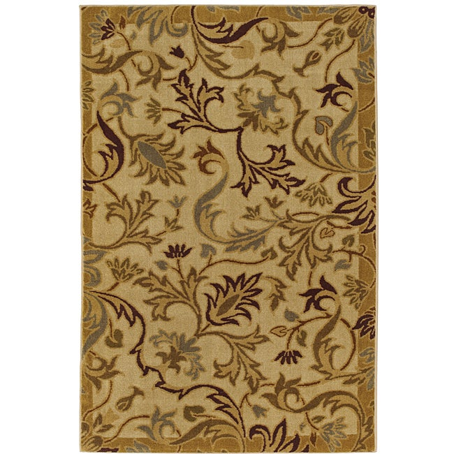 New Wave Lancaster Beige Rug (8' x 10') - Thumbnail 0