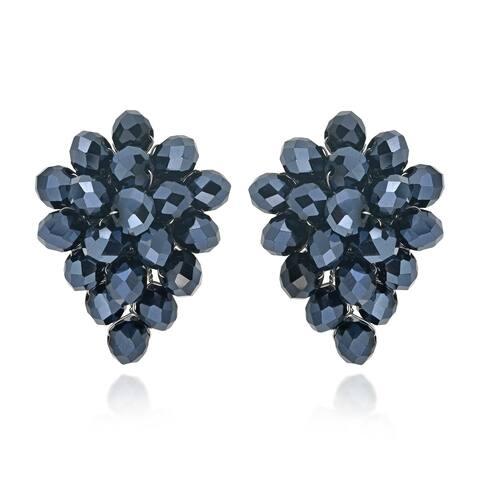 Handmade Midnight Forest Black Crystals Grape Earrings (Thailand)